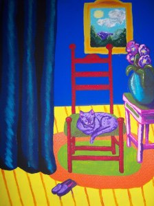 Miss Marge's Cat Mare Martell Acrylic on Board 16X20