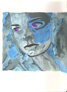 Water Goddess (water color by Mare Martell)