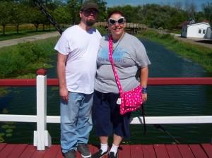 On a drawbridge at Windmill Island