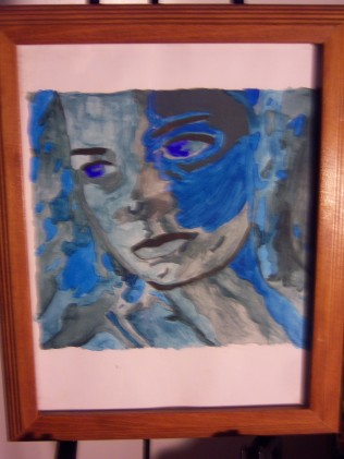 Water Goddess, water color, paper