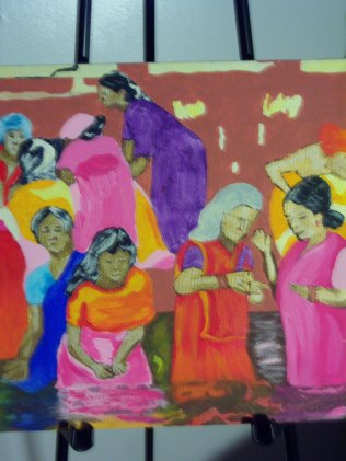 Women at the River, acrylic, canvas SOLD