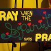Pray Spirit Pray, acrylic, board, SOLD