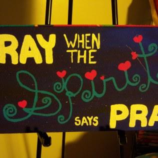 Pray Spirit Pray, acrylic, board, SOLD