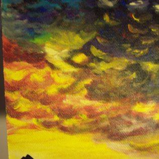 Arizona Sunset, acrylic board