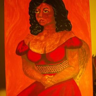 Senorita, acrylic, canvas