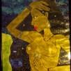 Inanna, paper mosaic