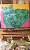 Freddie's Cat, acrylic, canvas