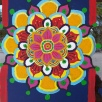 Mandala, Lai Thai Kitchen window, acrylic, glass ONE TIME