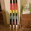 Literal Yard Stakes of Unity, sealed acrylic, wood