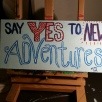 Say Yes, acrylic, board SOLD