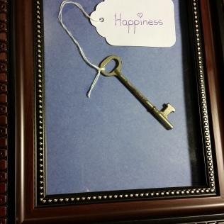 Key to Happiness, multi-media, framed