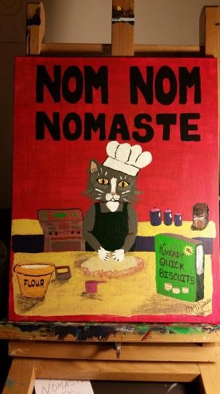 NomNomNomaste, acrylic, acrylic board PRINTS