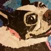 Greta Turner, paper mosaic, SOLD