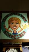 Biergarten Von Schreiber, acrylic, board SOLD