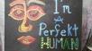Perfekt Human, acrylic, board