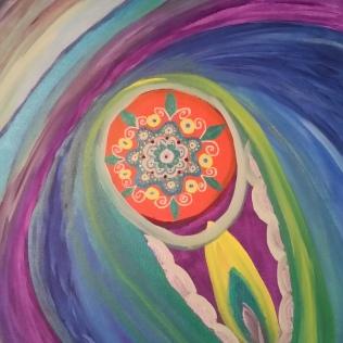 Avocado Vulva, acrylic, canvas