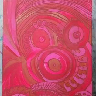 Study in color, acrylic, canvas