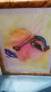 Watercolor Woman, framed, watercolor