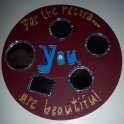 For the Record, upcycled record with mirrors and acrylic, SOLD