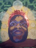 Lorraine the Warrior Queen, multi-media, canvas SOLD