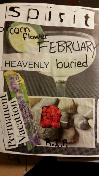 Spirits of cornflower February, heavenly buried