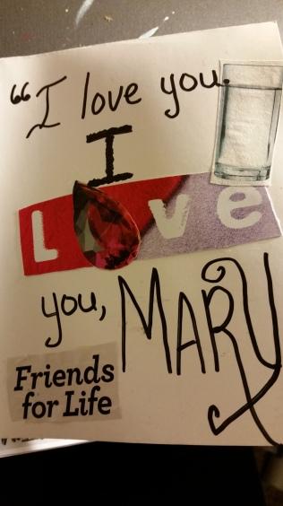 """""""I love you. I love you Mary!"""""""